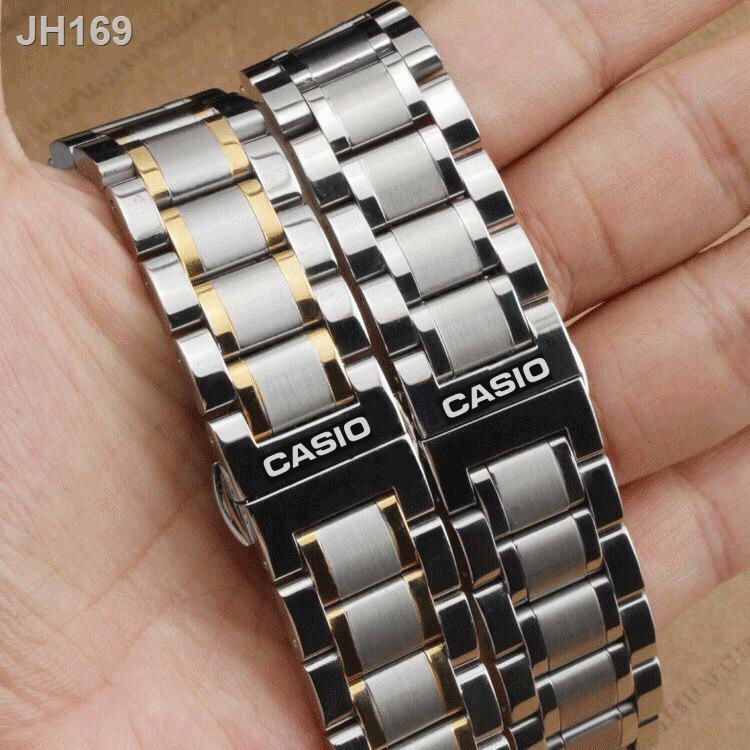 ₪❀สายนาฬิกา Casio BEM-501 506 507 517 5023 สายผู้ชายและผู้หญิง สายเหล็ก สร้อยข้อมือสแตนเลส 20นาฬิกาข้อมือ