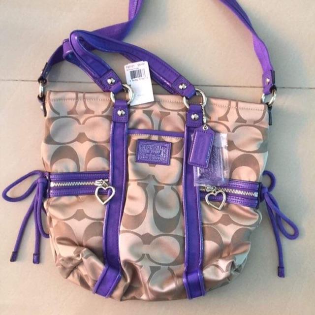 กระเป๋าสะพาย coach สีม่วงสดใส ของแท้💯