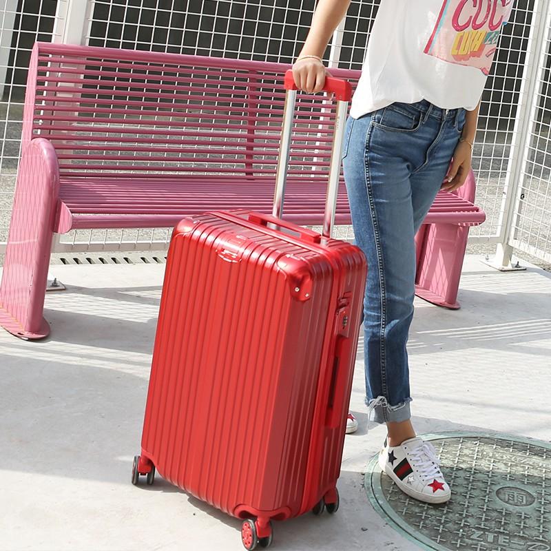 ❀กล่องรถเข็นสากลรอบ 24 นิ้วกล่องหนังผู้หญิงกระเป๋าเดินทางชายเวอร์ชั่นเกาหลีของกล่องรหัสผ่าน 20 นิ้วกล่องสัมภาระขนาดเล็ก