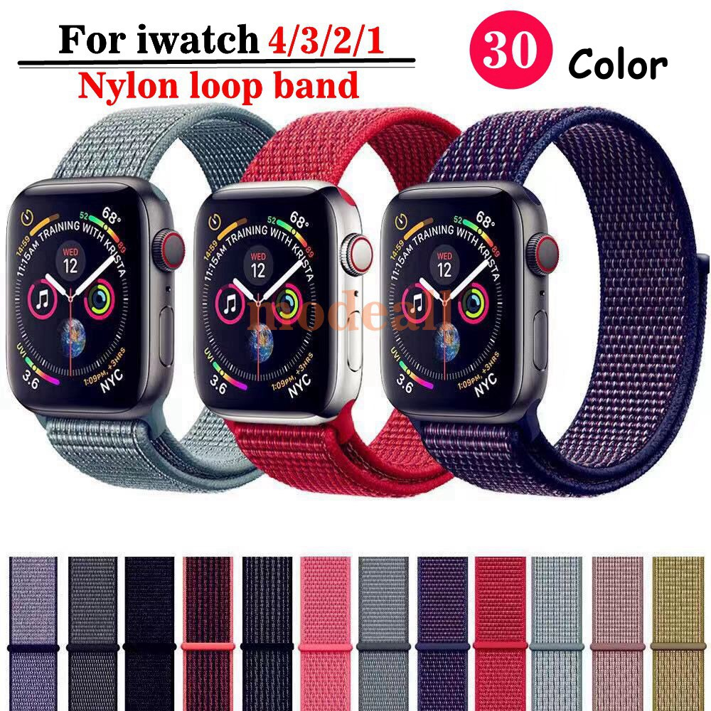 [สี 1-20] สาย Apple Watch สีใหม่ Apple Strap 38 40 42 44mm Series 1/2/3/4/5