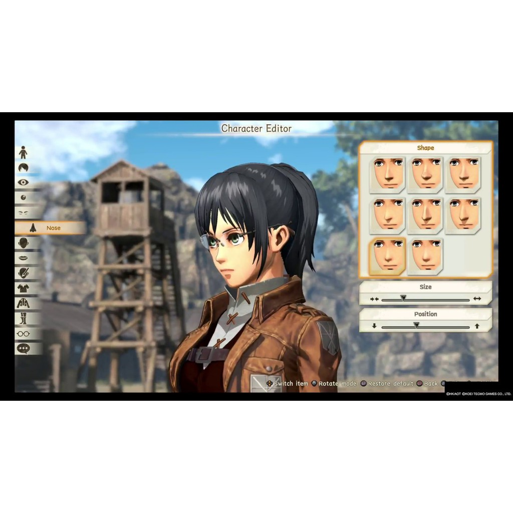 Attack on Titan 2 (AOT 2) Nintendo Switch game (เกมส์ Nintendo Switch)(ตลับเกมส์Switch)(แผ่นเกมSwitch)(A.O.T. 2 switch)