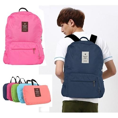กระเป๋าผ้าเดินทางแฟชั่น สำหรับใส่เสื้อผ้า สัมภาระของใช้ต่างๆ กางออกมาเป็นเป้ได้ เมื่อไม่ใช้งาน พับเก็บเป็นใบเล็กได้