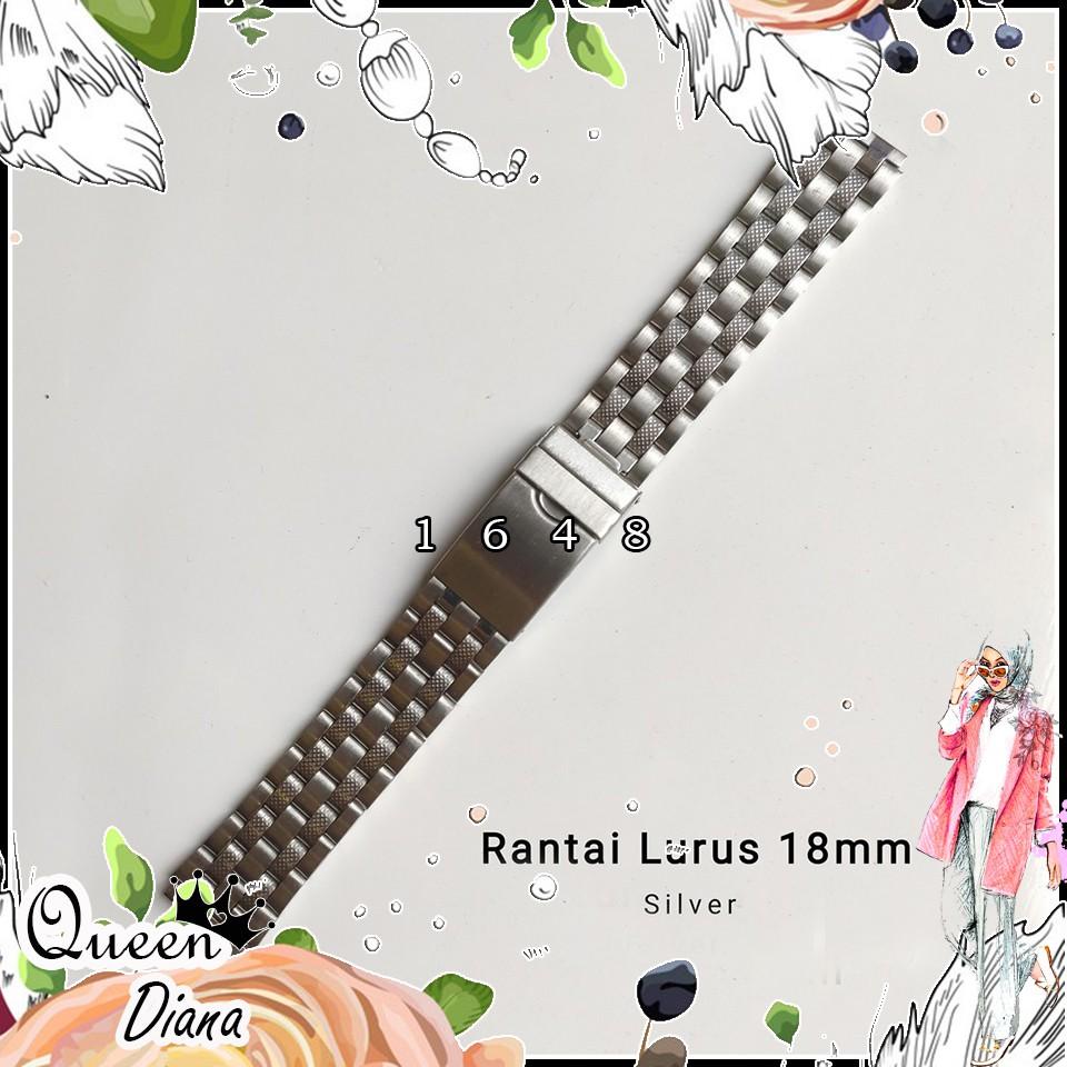 สายนาฬิกาข้อมือสแตนเลส 18 มม. สําหรับ Casio Rante Chain Brecelent