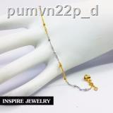 🔥มีของพร้อมส่ง🔥ลดราคา🔥✺◘□Inspire Jewelry สร้อยข้อเท้า 2 กษัติรย์ยาว 23 ซม. หุ้มทองแท้ 100% และทองขาว / ทองคำขาวและท