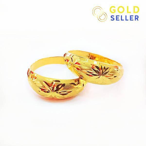 ✨ ✨ 🌻◈✔Goldseller แหวนทอง ลายโปร่งจิกทราย ครึ่งสลึง คละลาย ทองคำแท้ 96.5%