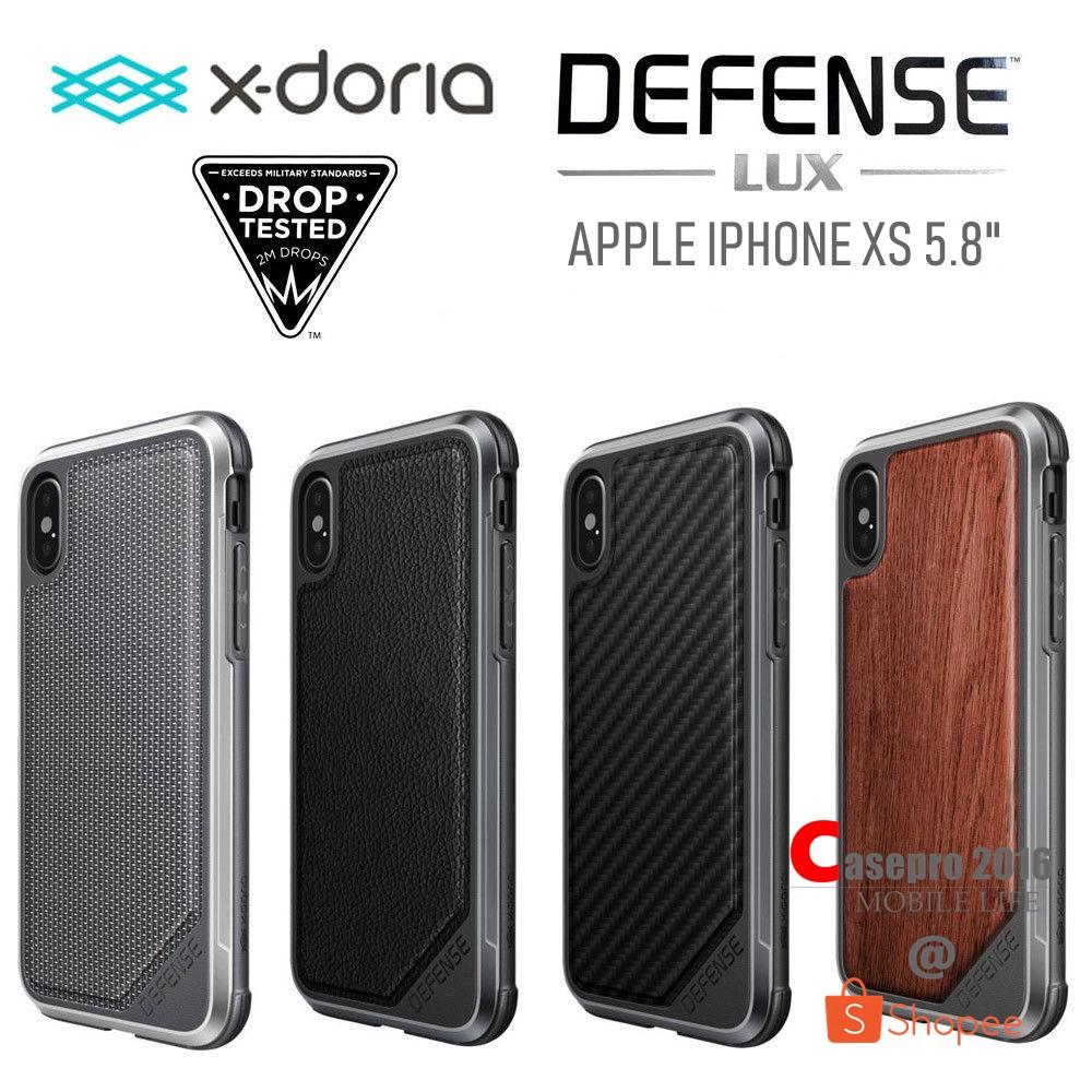 """X-DORIA DEFENSE LUX เคสกันกระแทกมาตราฐานอเมริกา รองรับ APPLE IPHONE XS 5.8"""""""