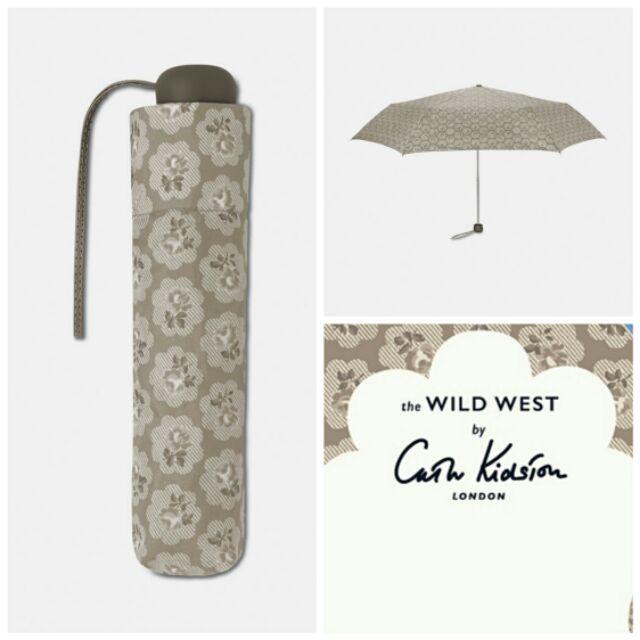 ร่มพับ Cath Kidston กันยูวี สีเทา ลายดอกไม้ [ UV UPF 50+ ]