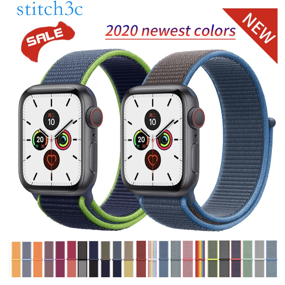 Band For Apple Watch Series  SE 6 5 4 3 2 1 38MM 42MM watchband Breathable Nylon Strap Sport Loop for Bracelet 40MM 44MM