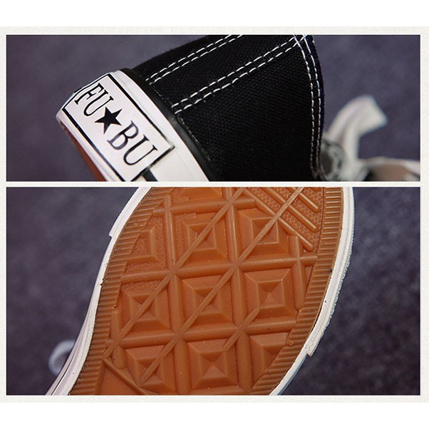 SECEN รองเท้าผ้าใบหญิง-ชาย รองเท้าคู่ ผ้าใบสีขาวแถบแดง ** พร้อมส่ง**(รุ่น SS-157) มีเก็บเงินปลายทาง