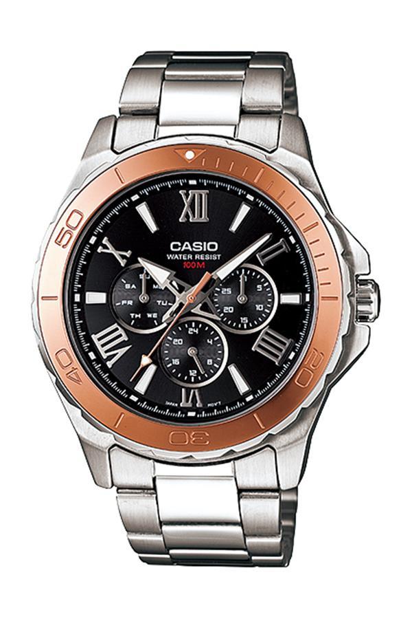 Casio Standard นาฬิกาข้อมือผู้ชาย สายสแตนเลส รุ่น MTD-1075D,MTD-1075D-1A2 - สีเงิน Ic7y