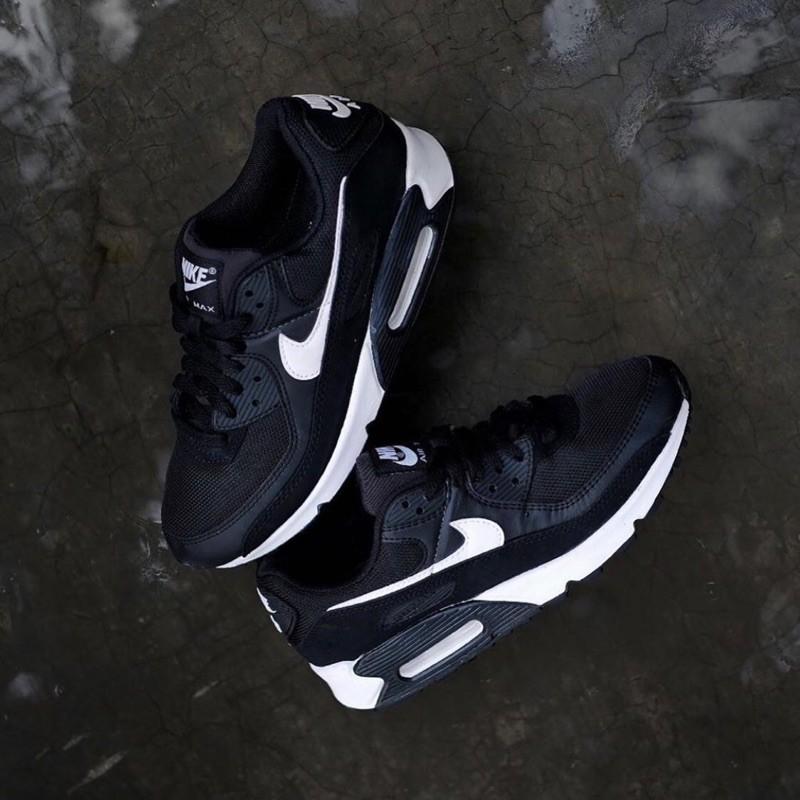 Nike Airmax 90 รองเท้าผ้าใบลําลองสีขาวดํา