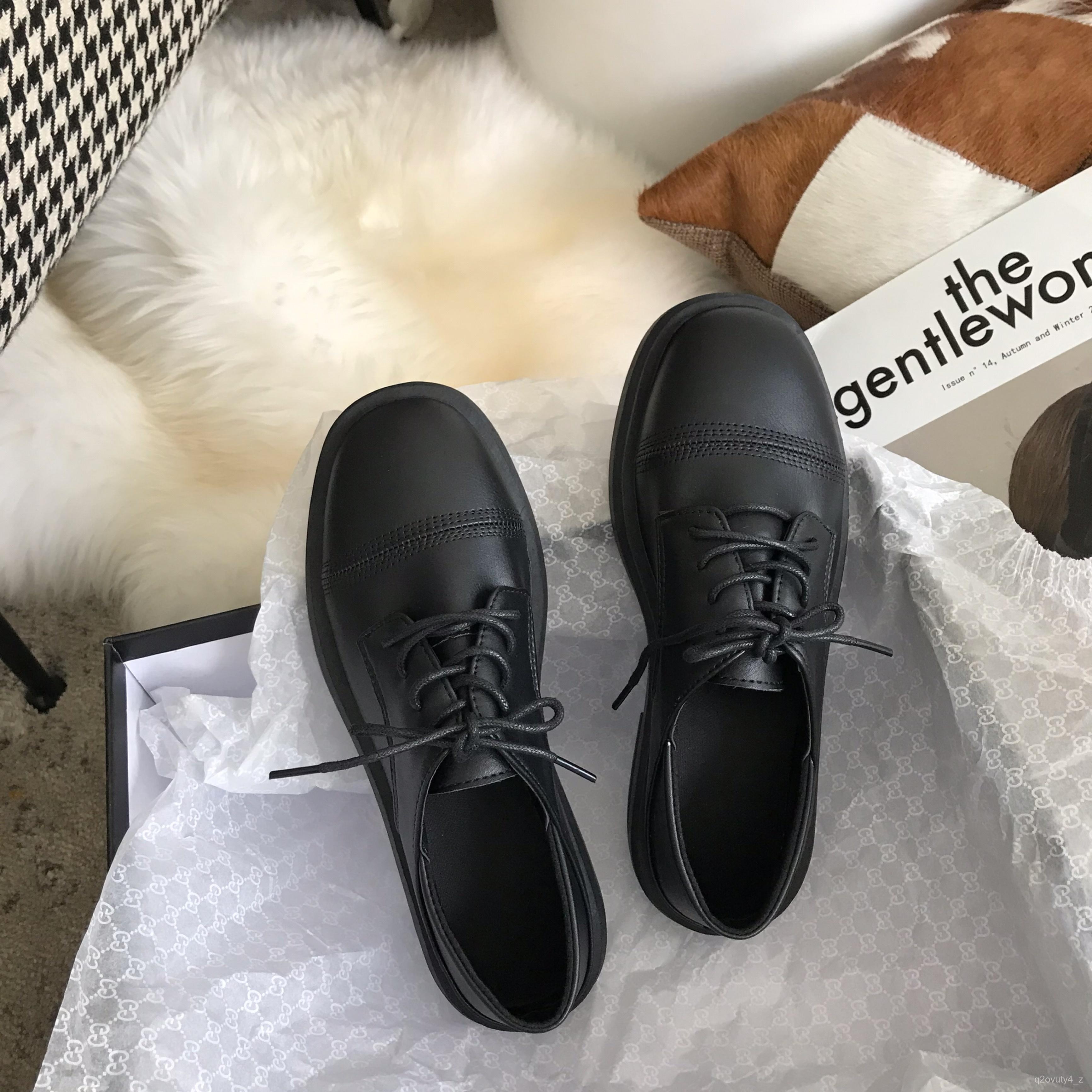 รองเท้าคัชชู  รองเท้าแตะเล็กไปหน่อยsunอุปกรณ์ภายในบ้าน รองเท้าหนังขนาดเล็กหญิงอังกฤษรองเท้าเดียวสีดำฤดูใบไม้ผลิและฤดูใบไ