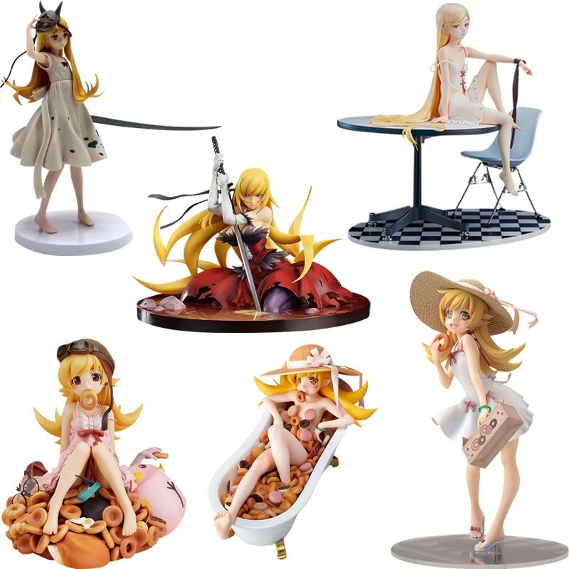 Nisemonogatari Monogatari Oshino Shinobu Bakemonogatari PVC Action Figure Toy Japan Anime  Girls  Collection Model Doll