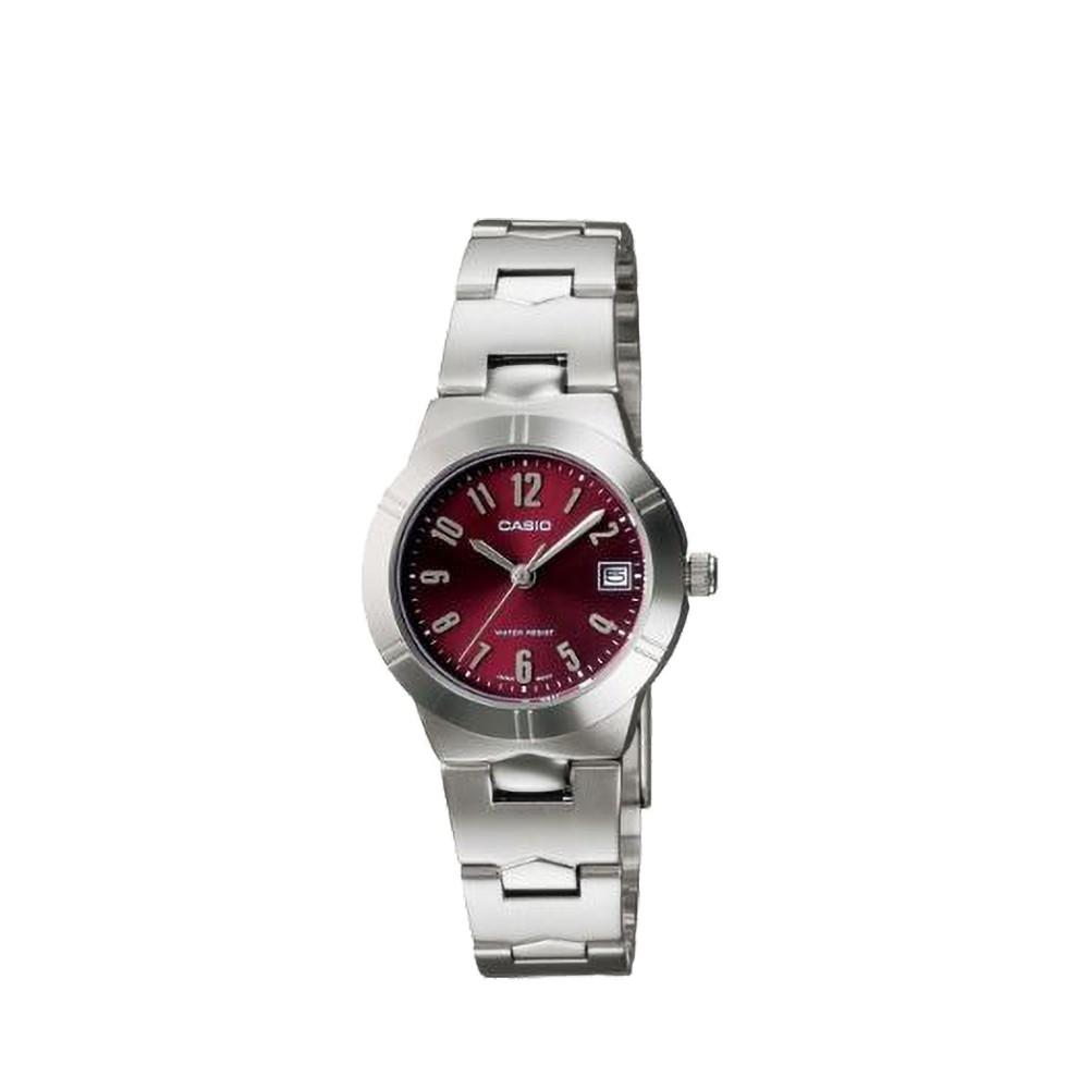 CASIO นาฬิกาข้อมือผู้หญิง GENERAL รุ่น LTP-1241D-4A2DF นาฬิกากันน้ำ สายสแตนเลส