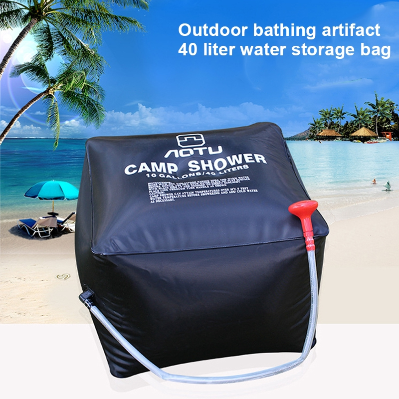 2 x 20L Solar Power Shower Camping Water Portable Sun Compact Heated Outdoor New