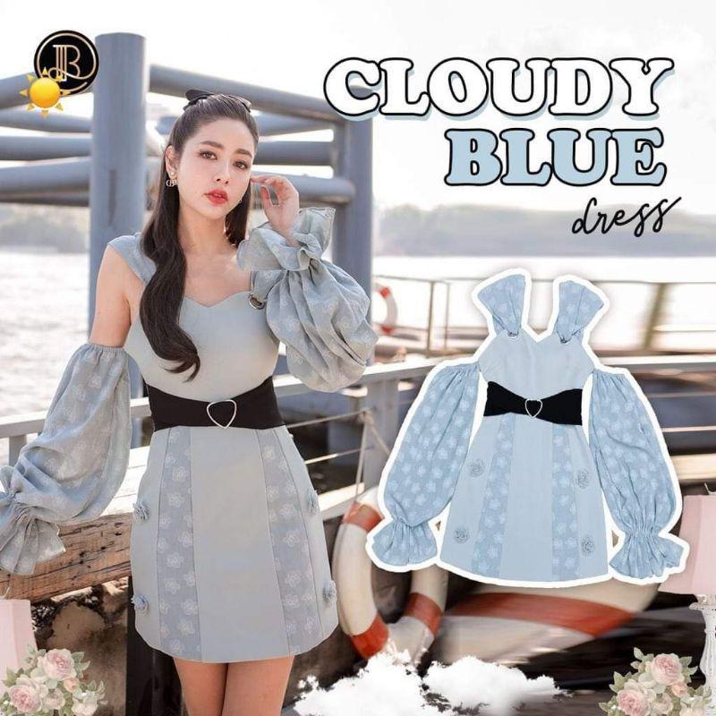 BLT cloudy blue เดรสโชว์ไหล่ sz.XS