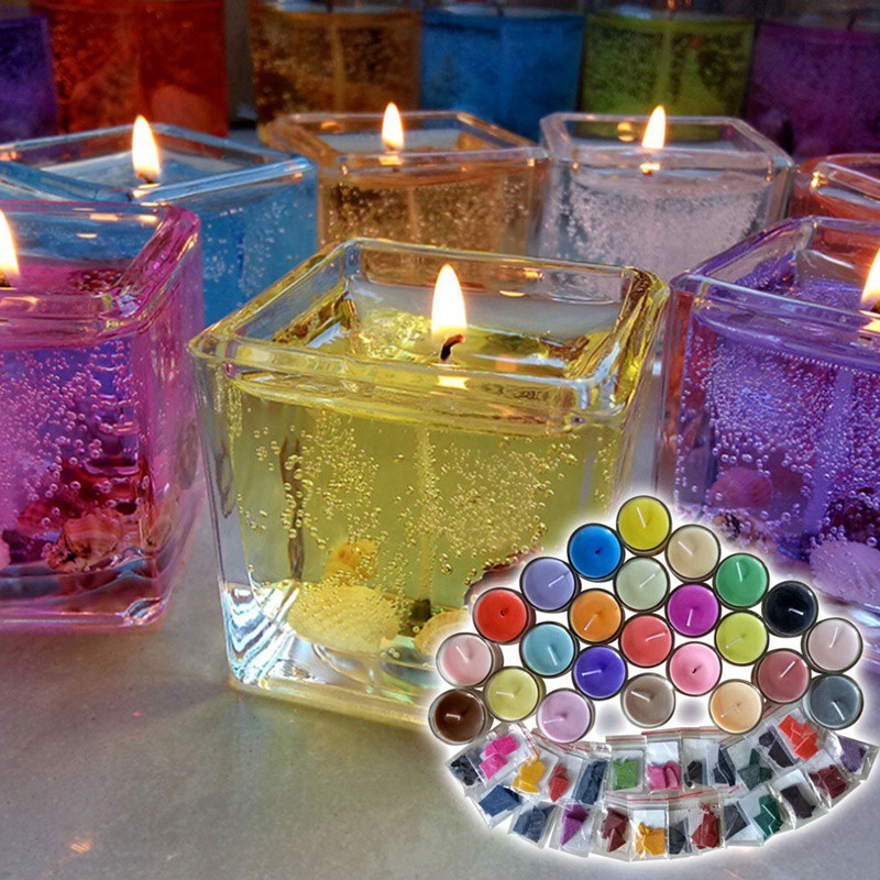24 Colors 2G Per Color Scented Non-Toxic Diy Candle Wax Dye