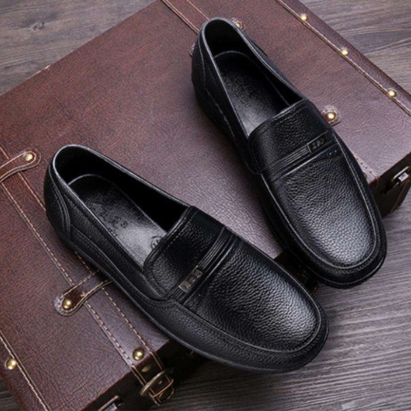 รองเท้าไม่มีส้นของผู้ชายรองเท้าคัชชูชายรองเท้าหนังชายรองเท้าคัชชู ผชMen's Loafers, Men's Leather Shoes, Men's Leather Sh