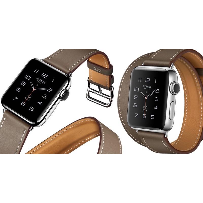 สาย Apple watch Hermes leather double tour