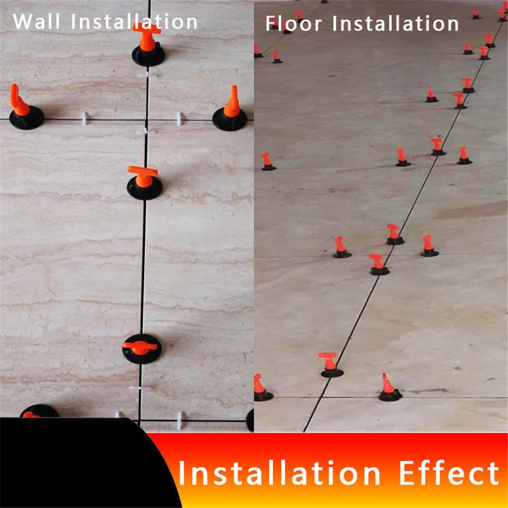 50-250pcs Reusable Tile Leveling Positioning System Leveler T-lock Floor Tool