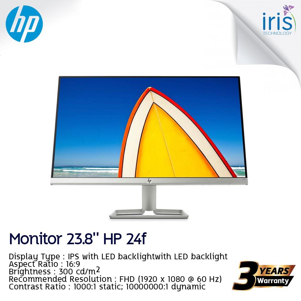 [พร้อมส่ง] MONITOR (จอมอนิเตอร์) Monitor 23.8'' HP 24F (IPS, HDMI)  – รับประกัน 3 ปี