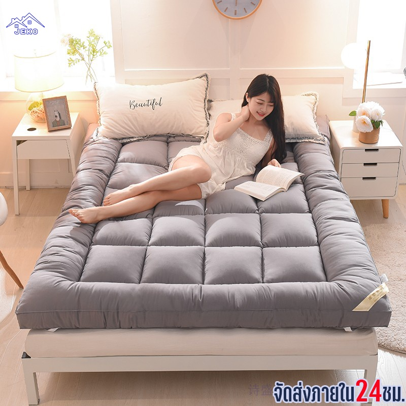 Jeko topper 6 ฟุต ที่นอน เบาะรองที่นอนขนห่านเทียม (3F 5F 6F) งานไทยความหนา2นิ้ว ท๊อปเปอร์ 3 5 6ฟุต (พร้อมส่ง)