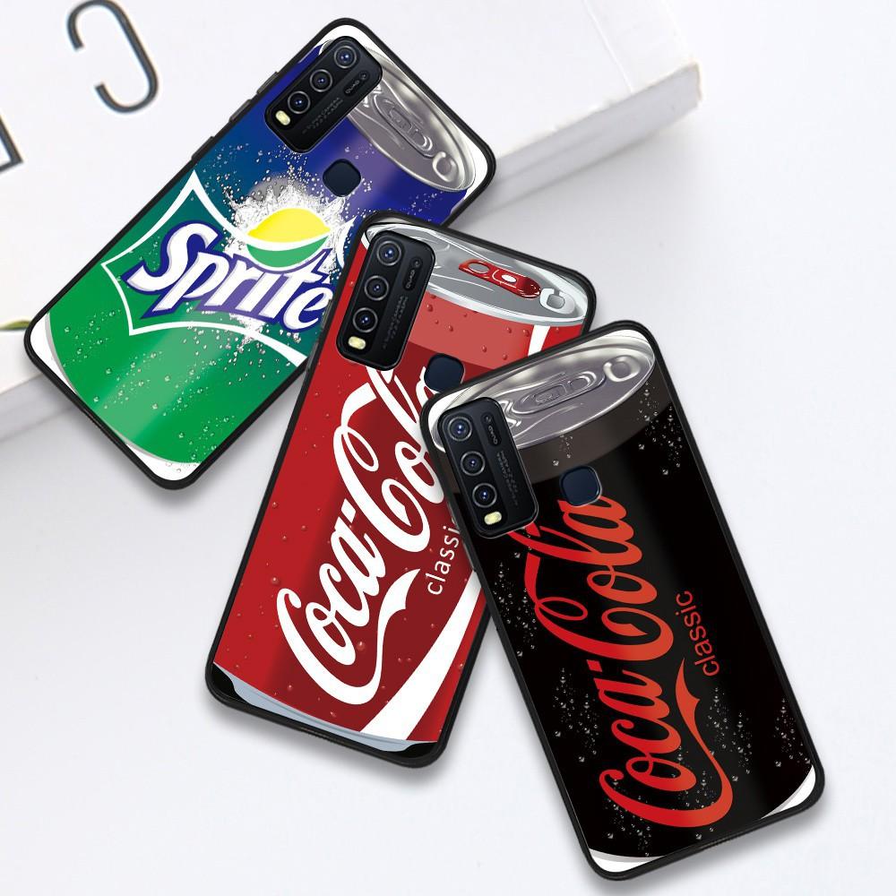 สำหรับ Infinix Hot 9 Play Hot 8 Smart 4 S5 Lite S5 Pro NOTE 7 X650 X652 X653 X690 X680 Soft Case Silicone Casing TPU Drunk Cans Drink Coca Colar Sprite Phone Full Cover simple Macaron Shockproof matte Back Cases เคสโทรศัพท์ เคสมือถือ