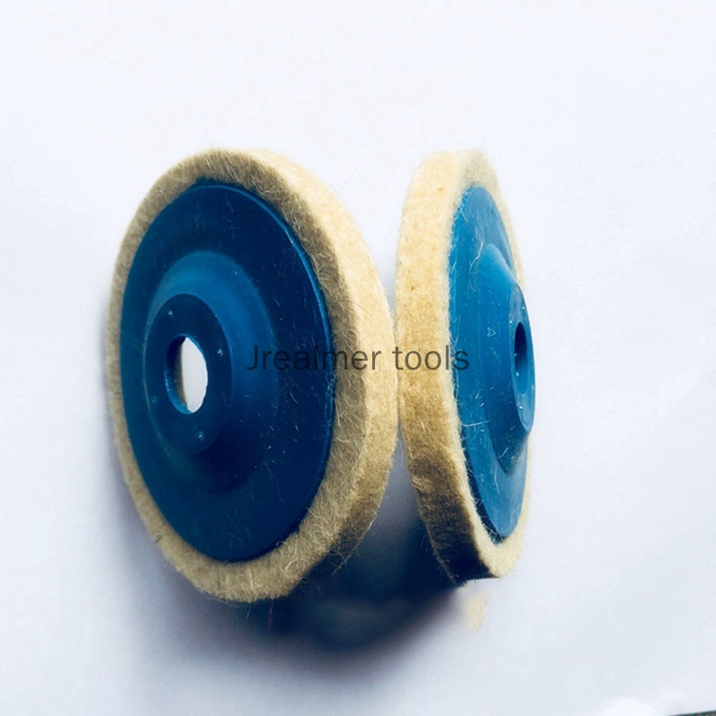 5PCS 100mm 4 Inch Wool Buffing Angle Grinder Wheel Felt Polishing Disc Pad Sets
