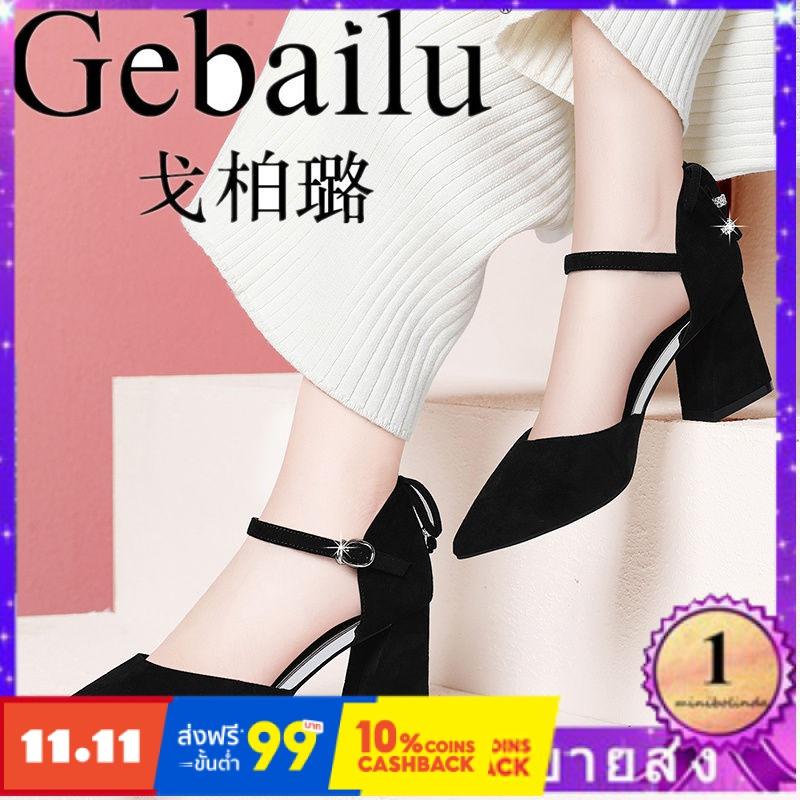 ⭐👠รองเท้าส้นสูง หัวแหลม ส้นเข็ม ใส่สบาย New Fshion รองเท้าคัชชูหัวแหลม  รองเท้าแฟชั่นรองเท้าใหม่ผู้หญิงรองเท้าผู้หญิงต่า