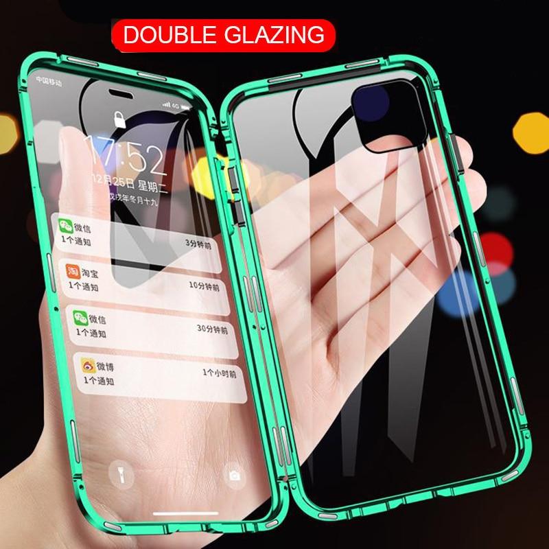 เคสโทรศัพท์มือถือแบบสองด้านสําหรับ Iphone Se 11 Pro Xs Max Xr