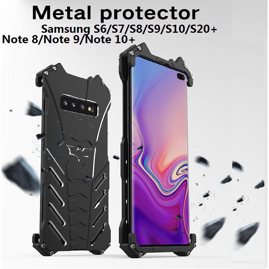 R-JUST S20 Ultra S20+ Batman Metal Case Samsung S6 S7 Edge S8 S9 Plus S10 5G S10 Plus Note 8 9 Note 10 Plus C9 Pro A8S A