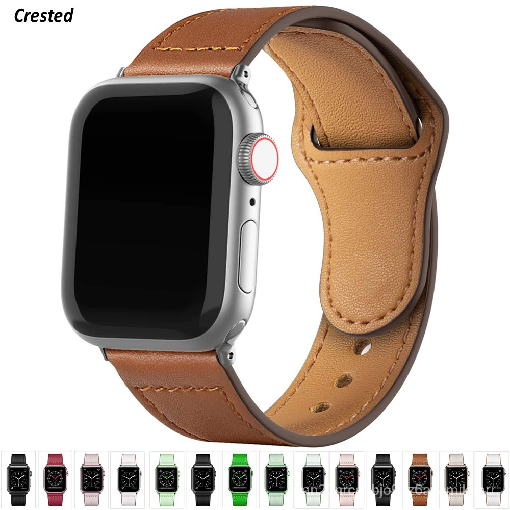 Leather strap For Apple watch band 44mm 40mm iWatch band 42mm 38mm Genuine Leather belt bracelet Apple watch series 5 4