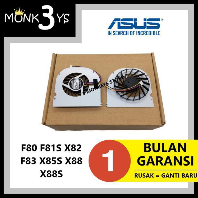พัดลมระบายความร้อนแล็ปท็อปสําหรับ Asus F80 F81s X82 F83 X85s X88 X88s 1512