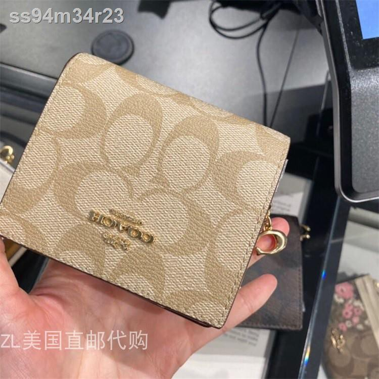 ◄✻▦> ZL สหรัฐ ไดเร็กเมล์ซื้อ Coach ใหม่ ผู้หญิงกระเป๋าสตางค์ใบสั้นกระเป๋าบัตร