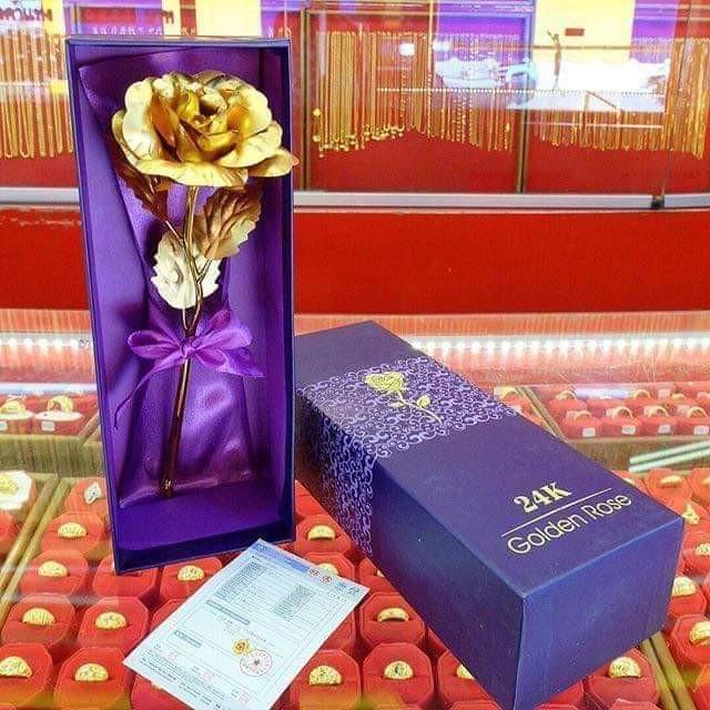 ดอกไม้ทองคำแท้24k ราคา299บ.