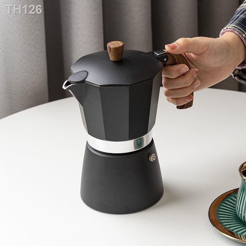☸[สินค้าใหม่มาแรง] เครื่องชงกาแฟ moka pot ของอิตาลี เครื่องทำกาแฟ เครื่องทำกาแฟ เครื่องใช้ไฟฟ้าวาล์วมือเดียวหม้อกาแฟขนาด
