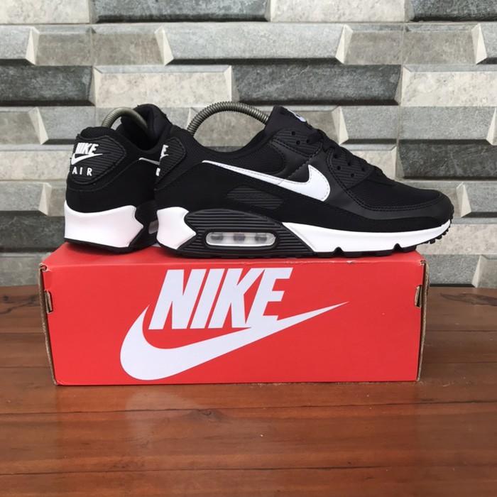Nike Airmax 90 รองเท้าผ้าใบแฟชั่นสีขาว/สีดํา