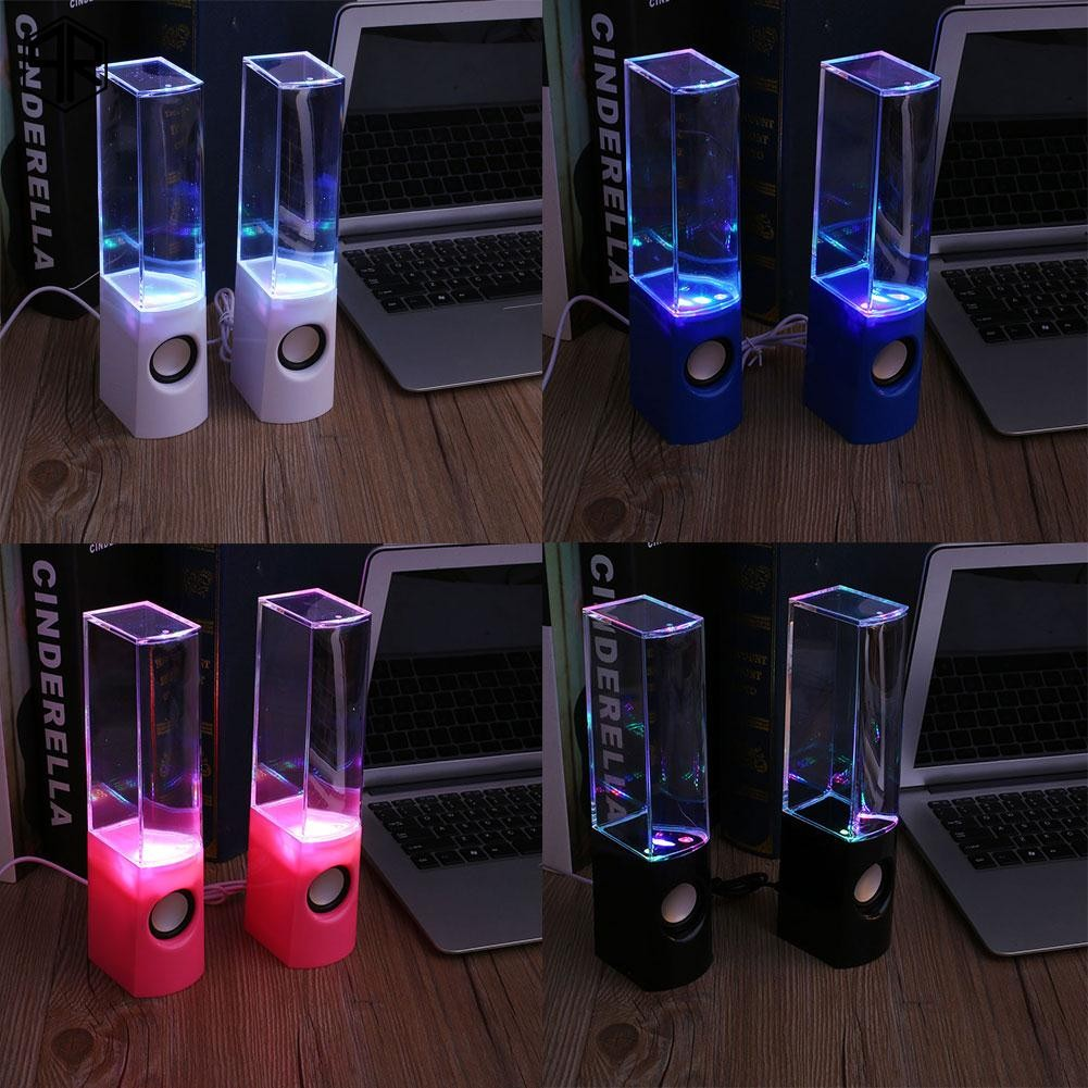 QR LED Dancing Water Light Mini Speakers Music Fountain For Phones Laptop   Shopee Thailand
