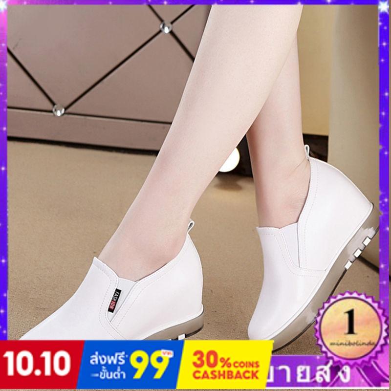 ⭐👠รองเท้าส้นสูง หัวแหลม ส้นเข็ม ใส่สบาย New Fshion รองเท้าคัชชูหัวแหลม  รองเท้าแฟชั่นหนังบางเพิ่มขึ้นรองเท้าผู้หญิงรองเท