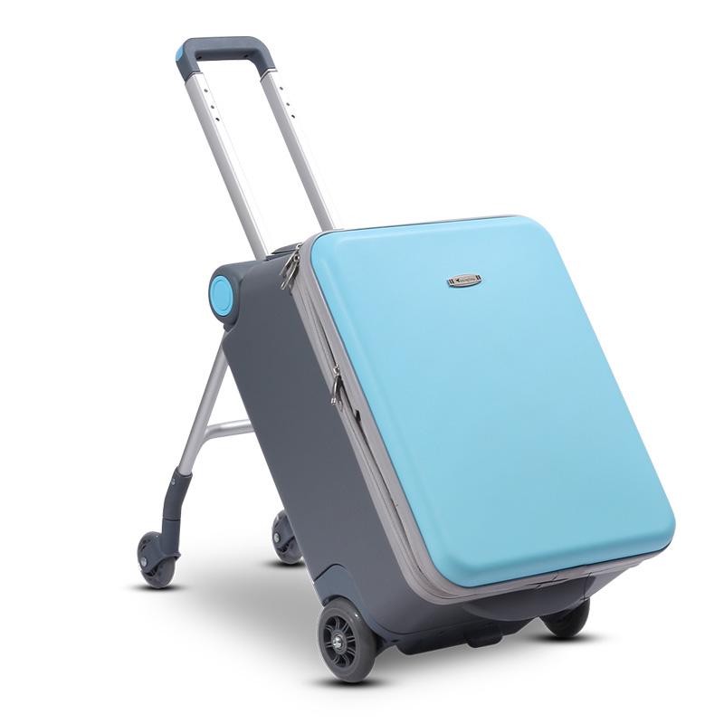 ❤♧ กระเป๋าเดินทางล้อลาก กระเป๋าเดินทางล้อลากใบเล็กGe Ling Tongสามารถนั่งและนั่งรถเข็นเด็กทารกขี้เกียจทารกลื่นสิ่งประดิษฐ