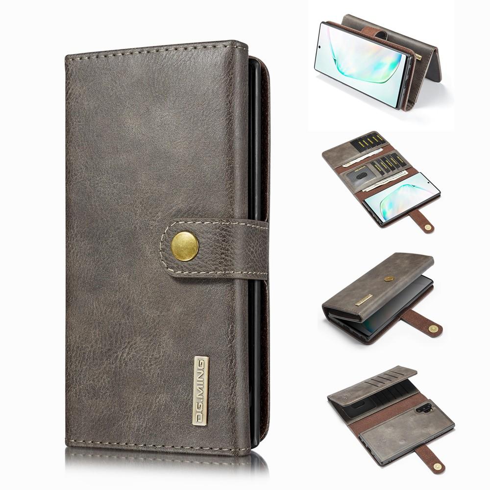 เคส Galaxy Note10+Note9 Note8 S10+S10E S9+S8+⭐ปุ่มต่างๆ กระเป๋าสตางค์ ดึงดูดแม่เหล็ก หนังแท้ พลิกซองโทรศัพท์⭐Note10Pro Note10Plus S10Plus S9Plus S8Plus⭐Button Tri-Fold Split Leather Case⭐Samsung