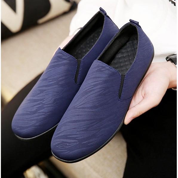 รองเท้าคัชชูผู้ชายสีดำน้ำเงินเทา