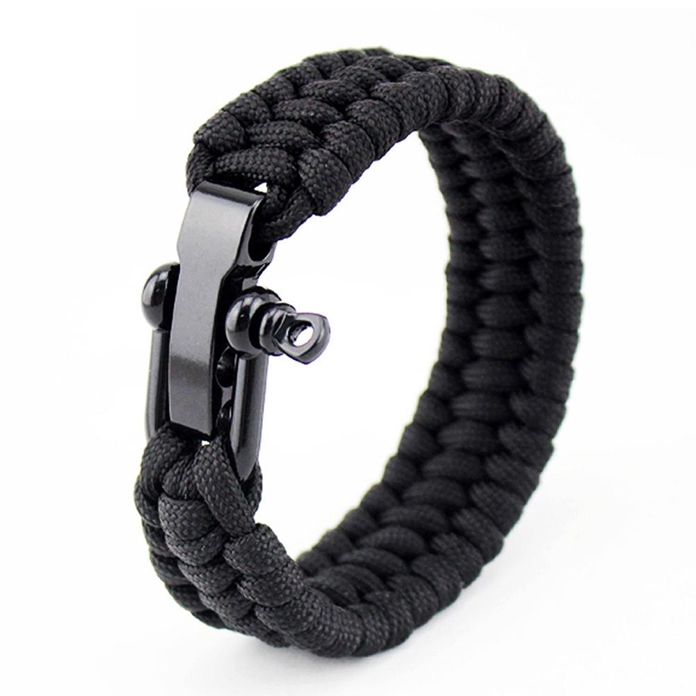 Camping Bracelet Paracord Buckle Rope Wristband Trekking Wrist Strap Men UK