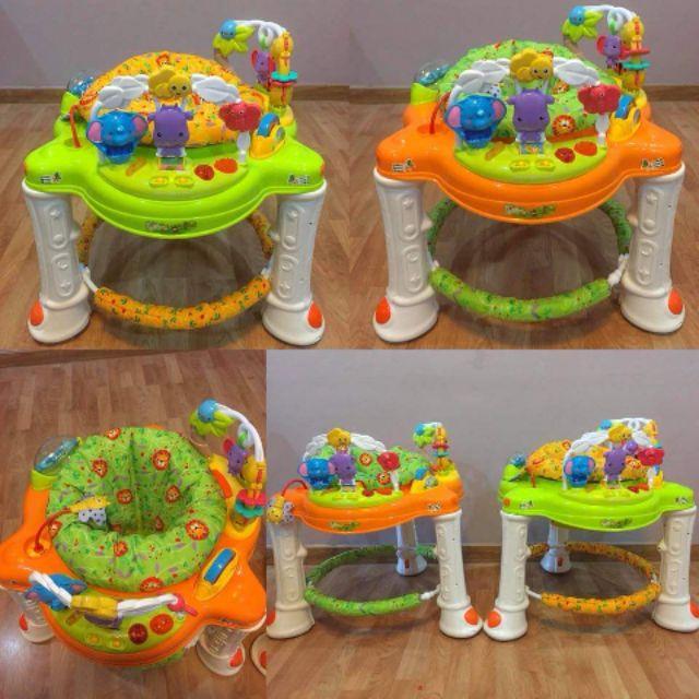 7495b35a4 รถหัดเดิน+เก้าอี้กิจกรรม360องศา jungle Walker Rainforest Baby Walker ...