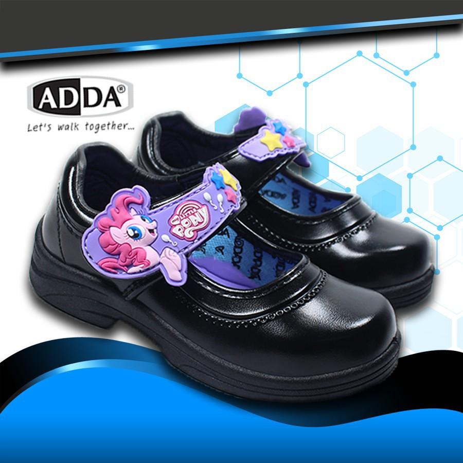 รองเท้าคัชชู⌵รองเท้าเกาหลี⌵ ADDA NEW PONY รองเท้านักเรียน เด็กผู้หญิง รองเท้าหนังดำ รุ่น 41C11-C1