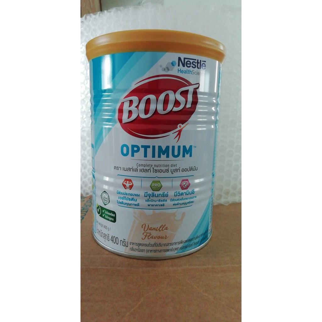 ✽◑﹊Nestle Nutren Boost Optimum อาหารเสริม นิวเทรน ออปติมัม 400 กรัม Exp.24/7/2022