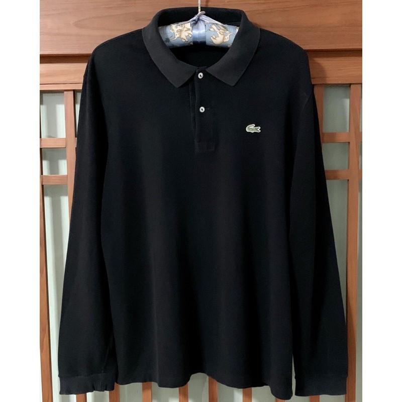 เสื้อยืดคอโปโล Lacoste สีดำ ของแท้ ซื้อมือ 1 จาก shop สภาพดี size 6