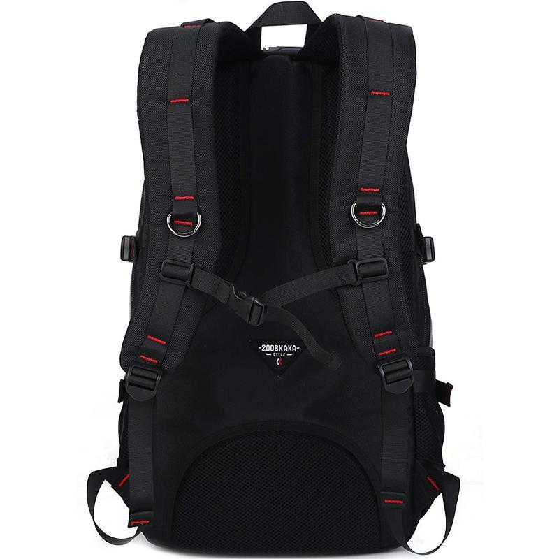❁✒KAKA กระเป๋าเป้กระเป๋าเป้กระเป๋าเดินทางพร้อมช่องใส่กาแล็กกระเป๋าเป้สะพายหลัง Sports Travel Backpack with Laptop Parti