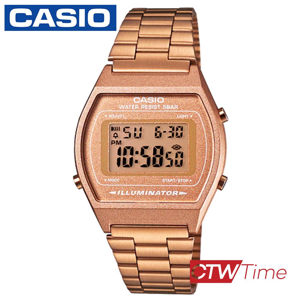 ส่งฟรี !! Casio Standard นาฬิกาข้อมือ สายสแตนเลส รุ่น B640WC-5ADF - สีพิ้งโกลด์ aTE7