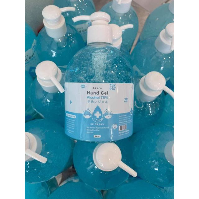 Laura hand gel 500ml เจลล้างมือแอลกอฮอล์ 75%